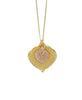 Aspen Leaf Double Necklace- Gold & Rose Gold