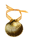Clam Shell Ornament- Gold