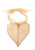 Cottonwood Leaf Ornament- Gold