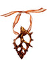 Cut Bursa Shell Ornament- Iridescent Copper