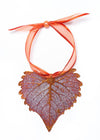 Cottonwood Leaf Ornament- Iridescent Copper