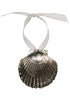 Clam Shell Ornament- Silver