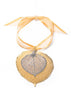 Aspen Leaf Double Ornament- Gold & Silver