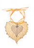Cottonwood Leaf Double Ornament- Gold & Silver