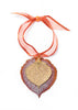 Aspen Leaf Double Ornament- Iridescent Copper & Gold