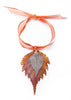 Birch Leaf Double Ornament- Iridescent Copper & Silver