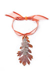 Oak Leaf Double Ornament- Iridescent Copper & Silver