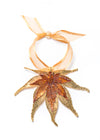 Japanese Maple Leaf Double Ornament- Gold & Iridescent Copper