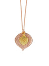 Aspen Leaf Double Necklace- Rose Gold & Gold