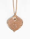 Aspen Leaf Necklace- Rose Gold