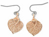 Aspen Leaf Earrings- Rose Gold