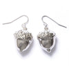 Acorn Earrings- Silver