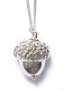 Acorn Necklace- Silver