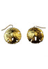 Sand Dollar Earrings- Gold