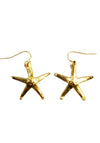 Starfish Earrings- Gold