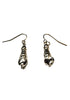 Spiral Seashell Earrings- Silver