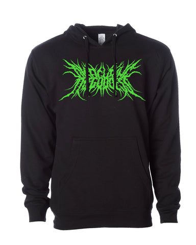 Disfiguring The Goddess Logo Hooded Sweatshirt (Green Glow)