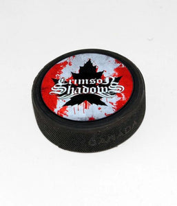Crimson Shadows Hockey Puck