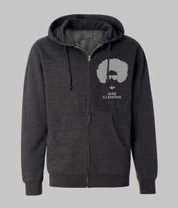 Jake Clemons Logo Zip Hooded Sweatshirt