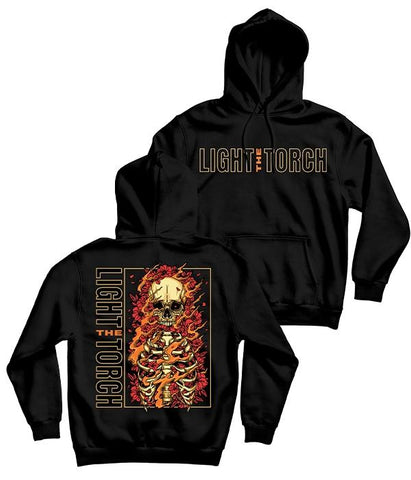 Light The Torch Flames Pullover Hooded Sweatshirt