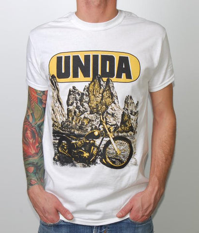 Unida Biker Mountain Shirt (White)