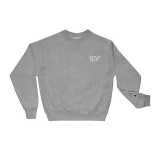 Trap Street x Champion Reverse Weave Embroidered White Logo Crewneck Sweatshirt
