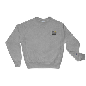 Exponent x Champion Reverse Weave Embroidered Black Logo Crewneck Sweatshirt