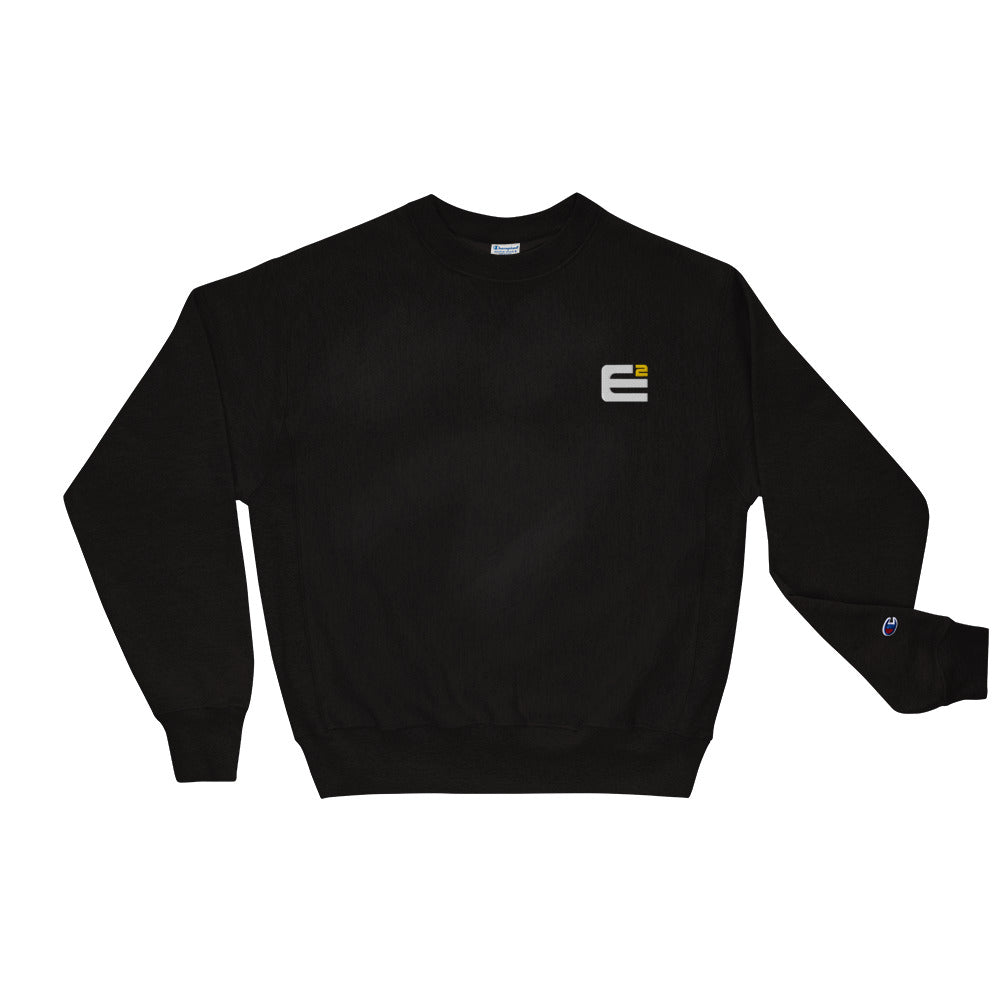 Exponent x Champion Reverse Weave Embroidered White Logo Crewneck Sweatshirt