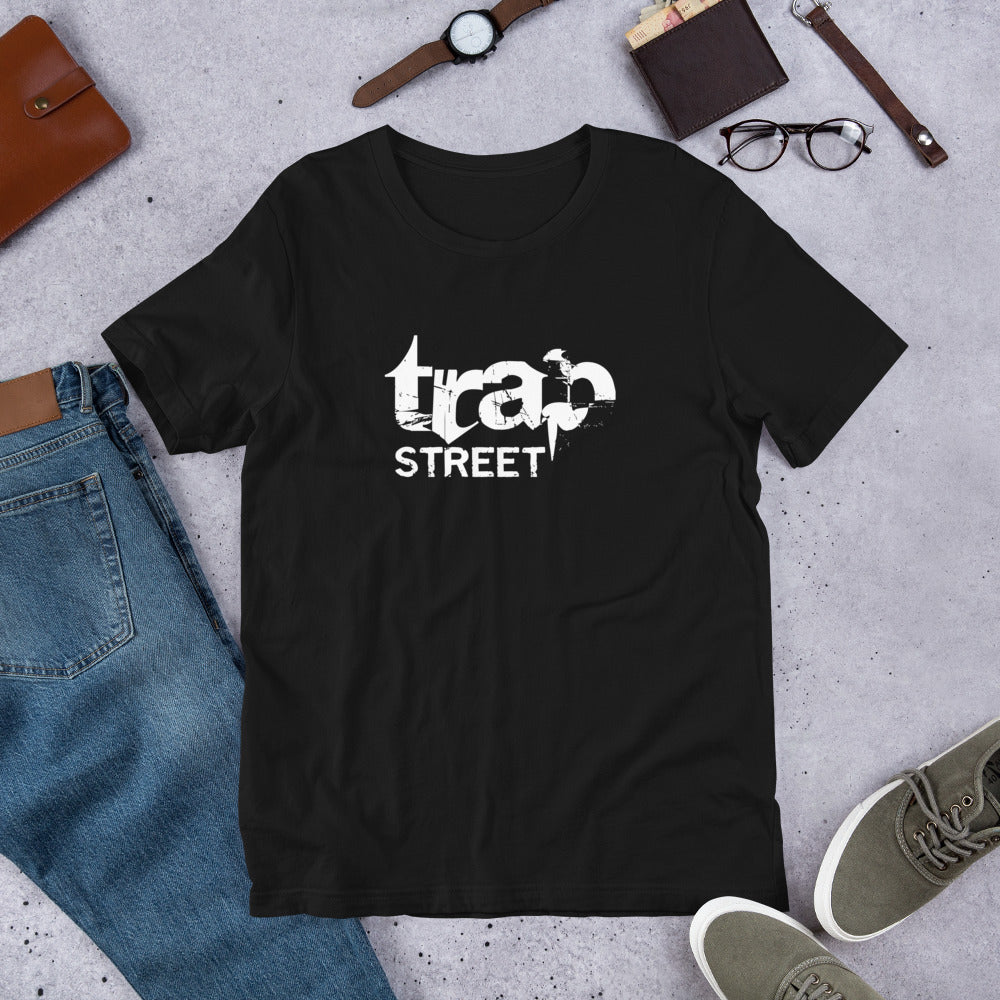 Trap Street White Logo T-Shirt