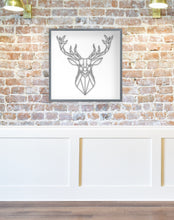 Load image into Gallery viewer, 3D Sign | Deer Head Sign | Framed Wood Sign | Personalized Home Decor | Deer Silhouette | Gift For Him | Deer Decor