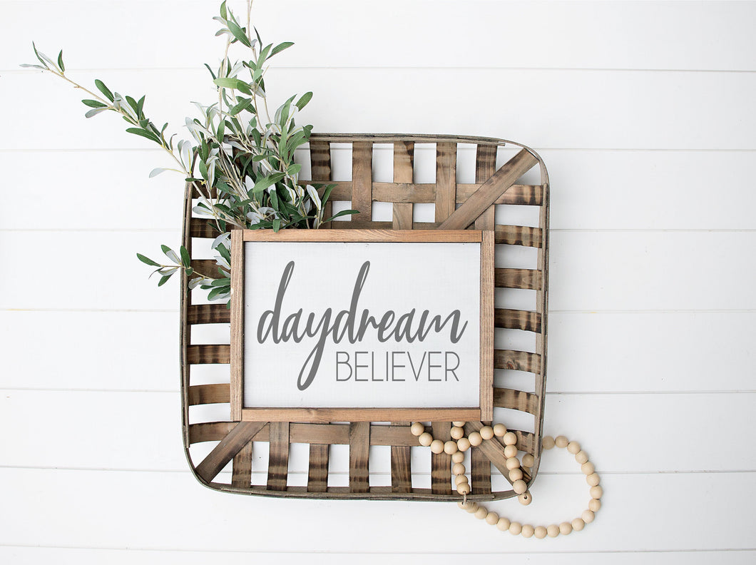 Daydream Believer  | Framed Wood Sign |  | Daydream Believer Sign | Gift For Her | Bedroom Sign | Above Bed Sign | Teen Decor
