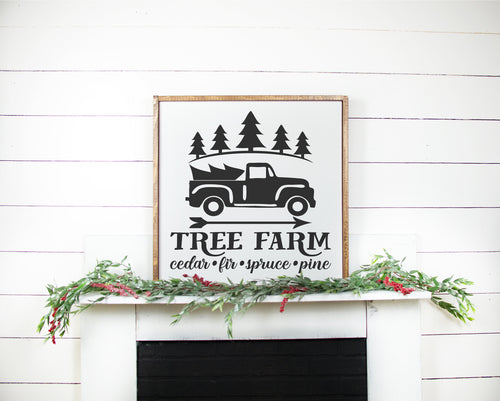 Tree Farm Sign | Framed Wood Sign | Personalize Home Decor | Holiday Sign | Christmas Sign | Christmas Tree Sign | Christmas Decor