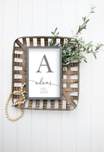 Load image into Gallery viewer, Family Name Sign | Framed Wood Sign | Wedding Gift Sign | Wedding Gift Personalized | Wedding Gifts For Couples | Anniversary Gift