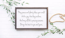 Load image into Gallery viewer, May Peace and Plenty Bless Your House | Irish Blessing Sign | Framed Wood Sign | Irish Prayer | Housewarming Gift | Irish Saying
