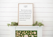 Load image into Gallery viewer, I'll Always Be With You A.A. Milne Wood Sign  | Framed Wood Sign | Custom Home Decor | Gratitude Quote | Book Page Print