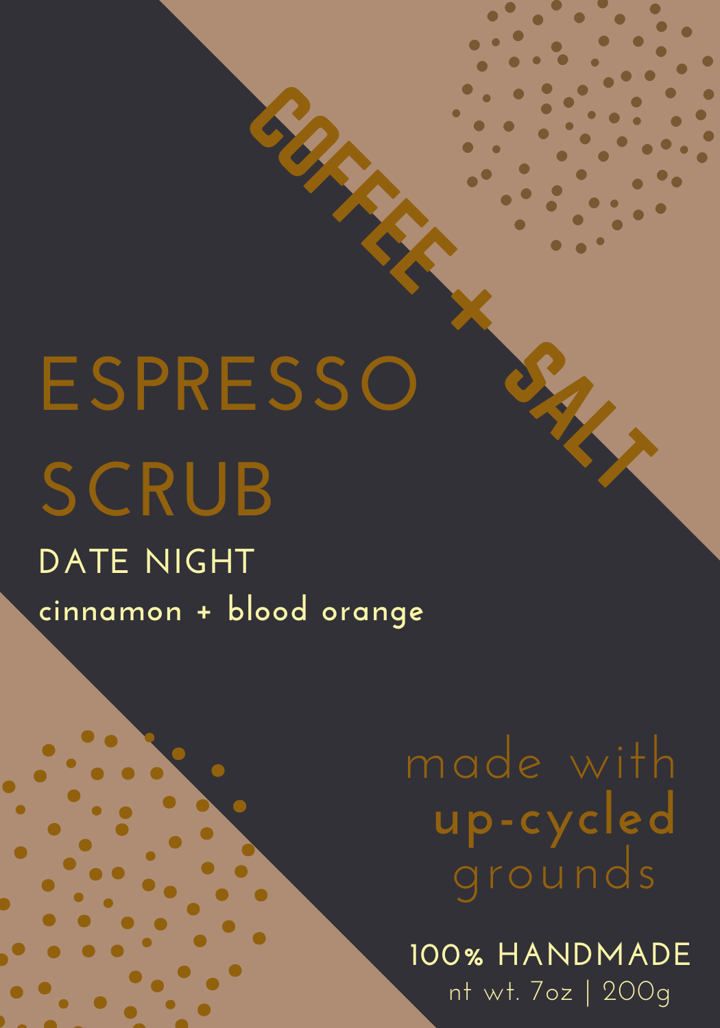 Date Night Coffee Scrub with Cinnamon and Blood Orange essential oils