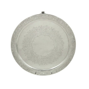 "Antique Victorian Sterling Silver 8"" Tray / Salver 1885"