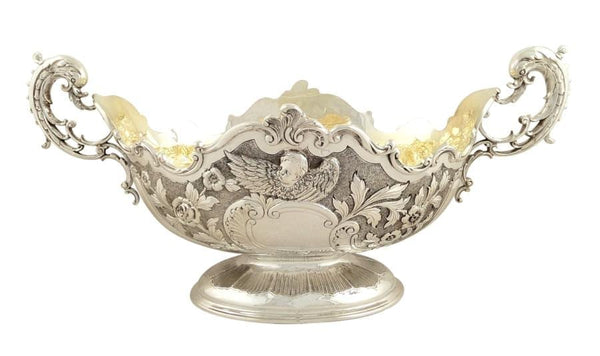 "Antique Edwardian Sterling Silver 15 1/2"" Centrepiece Bowl 1901"