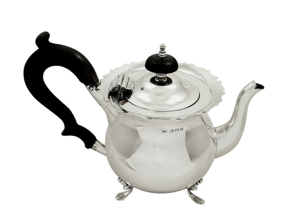 Antique Edwardian Sterling Silver Bachelor Teapot 1907
