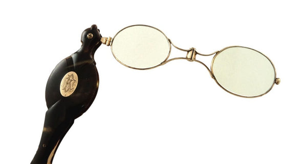 Pair of Antique Gold & Tortoiseshell Lorgnettes c1880