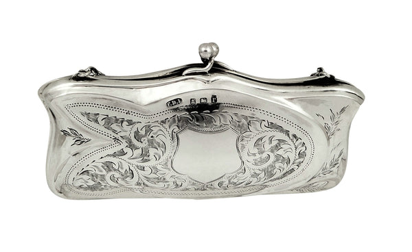 Antique Silver Purse 1916