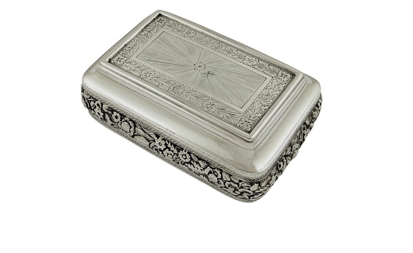 Antique Georgian Sterling Silver Snuff Box 1817