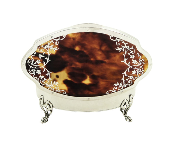 Antique Sterling Silver & Tortoiseshell Trinket Box – 1919 Mappin & Webb