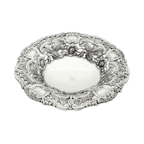 Antique Georgian Sterling Silver 10″ Bowl / Dish 1821