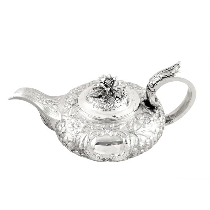 Antique William IV Irish Sterling Silver Teapot – Dublin 1832