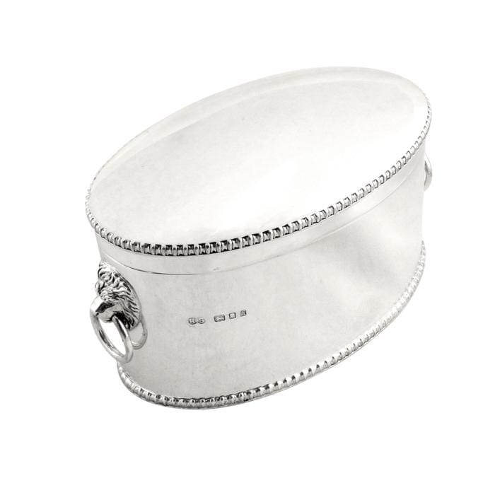 Antique Sterling Silver Biscuit Box / Caddy 1925