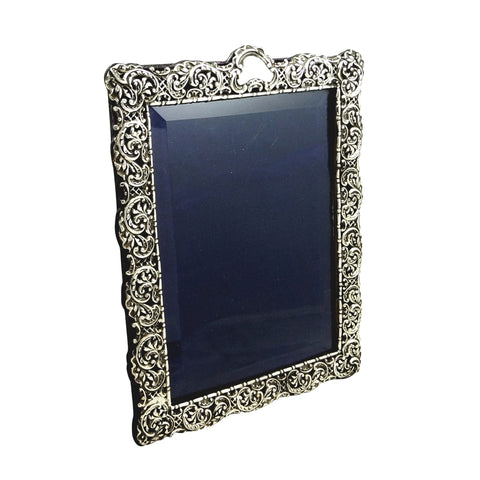 Antique Victorian Sterling Silver 10 1/2″ Photo Frame 1897