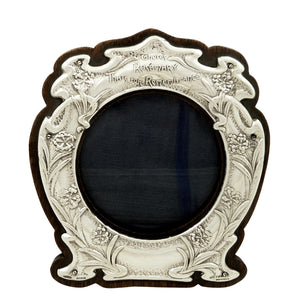 Antique Edwardian Sterling Silver Photo Frame 1904 – Shakespeare's Hamlet