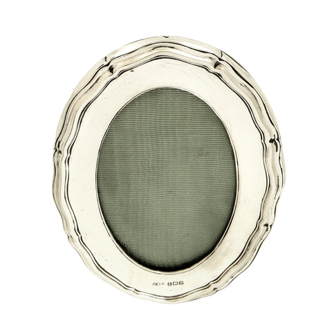 Antique Sterling Silver 4 1/2″ Oval Photo Frame 1915