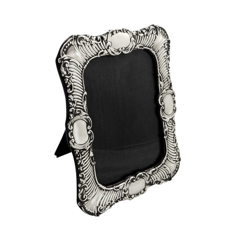 Antique Edwardian Sterling Silver 7″ Photo Frame 1901